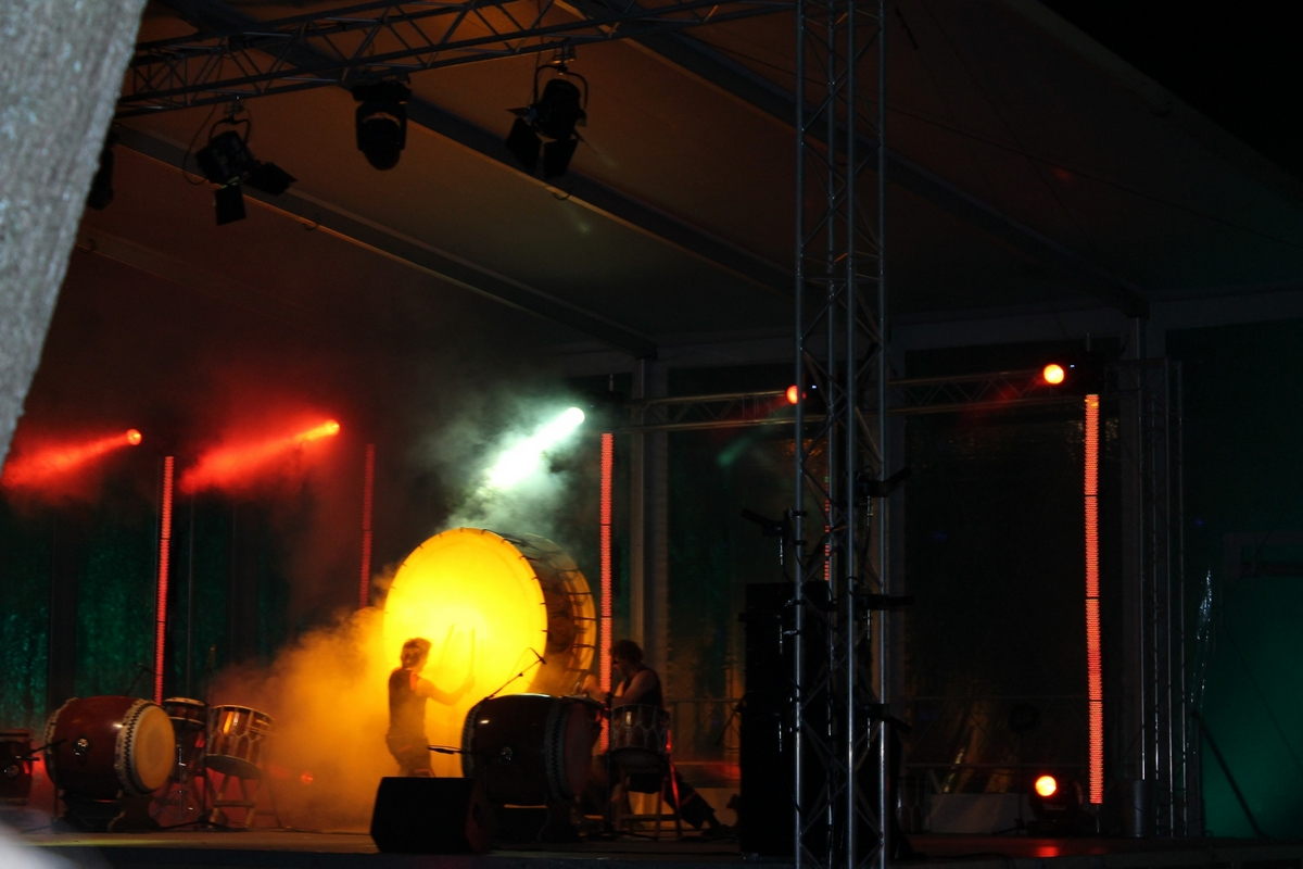 Circle_Percussion _tijdens_openingsshow_Oudewater_750_jaar_Stad